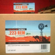 .223 REMINGTON ADI AUSTRALIAN OUTBACK 69 GRAIN BTHP (20 ROUNDS)