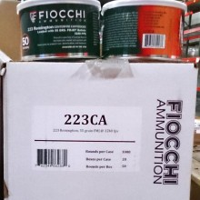 223 REMINGTON FIOCCHI CANNED HEAT 55 GRAIN FMJ (1000 ROUNDS)