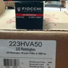 .223 REMINGTON FIOCCHI EXTREMA V-MAX 50 GRAIN JHP (50 ROUNDS)