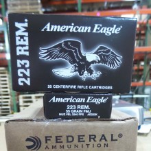 223 REMINGTON FEDERAL AMERICAN EAGLE 55 GRAIN FMJ 20 ROUNDS