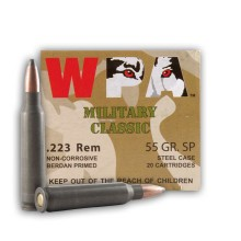 223 Rem - 55 gr SP - Wolf WPA MC - 20 Rounds