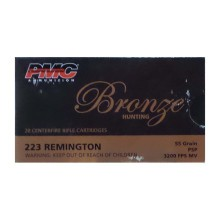 223 REMINGTON PMC BRONZE 55 GRAIN PSP (20 ROUNDS)