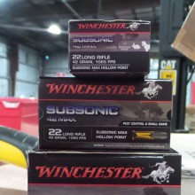 22 LR WINCHESTER SUBSONIC MAX 42 GRAIN LHP (50 ROUNDS)