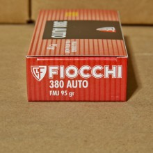 380 ACP FIOCCHI SHOOTING DYNAMICS 95 GRAIN FMJ (50 ROUNDS)