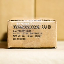 "410 BORE WINCHESTER AA 2-1/2"" #9 SHOT (250 ROUNDS)"