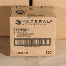 6.8MM SPC FEDERAL FUSION 115 GRAIN SP (20 ROUNDS)