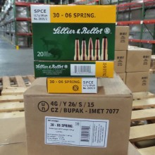 30-06 SPRINGFIELD SELLIER & BELLOT 180 GRAIN SPCE (20 ROUNDS)