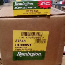 300 WIN MAG REMINGTON MANAGED RECOIL 150 GRAIN CORE-LOKT PSP (20 ROUNDS)