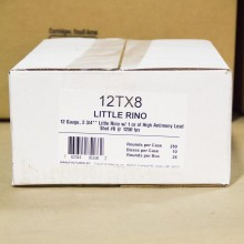 "12 GAUGE FIOCCHI LITTLE RINO 2-3/4"" GRAIN #8 SHOT (250 ROUNDS)"