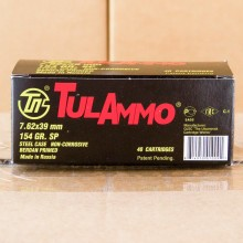 7.62x39MM TULAMMO 154 GRAIN SP (40 ROUNDS)