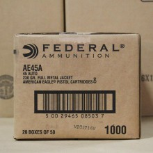 .45 ACP FEDERAL AMERICAN EAGLE 230 GRAIN FMJ (50 ROUNDS)