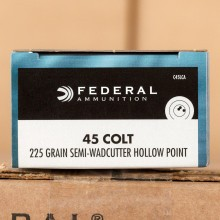 45 COLT FEDERAL CHAMPION 225 GRAIN SWC (20 ROUNDS)