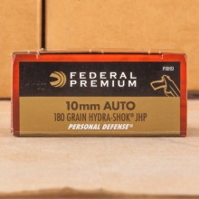 10MM AUTO FEDERAL PREMIUM 180 GRAIN HYDRA-SHOK JHP (20 ROUNDS)