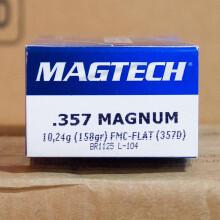 357 MAGNUM MAGTECH 158 GRAIN FMJ (50 ROUNDS)