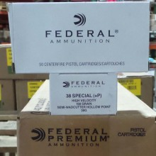 38 SPECIAL +P FEDERAL 158 GRAIN LSWCHP (1000 ROUNDS)