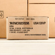 """12 GAUGE WINCHESTER USA HEAVY GAME & TARGET 2-3/4"""" 1-1/8 OZ. #8 SHOT (100 ROUNDS)"""