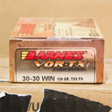 30-30 WIN BARNES VOR-TX 150 GRAIN TRIPLE-SHOCK X HP (20 ROUND)