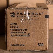 223 REM FEDERAL AMERICAN EAGLE 55 GRAIN FMJ (20 Rounds)