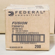300 WIN MAG FEDERAL FUSION 150 GRAIN SP (20 ROUNDS)