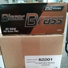 .40 S&W BLAZER BRASS VALUE PACK 180 GRAIN FMJ (250 ROUNDS)