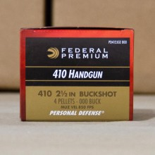 ".410 BORE FEDERAL PREMIUM 2-1/2"" 000 BUCK (200 SHELLS)"