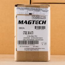 .380 AUTO MAGTECH 95 GRAIN FMC (1000 ROUNDS)