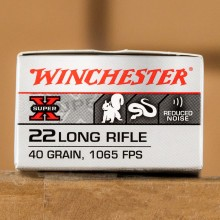 22 LR - 40 Grain Subsonic LHP - Winchester Super-X - 50 Rounds
