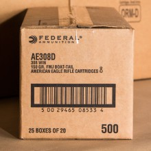 308 FEDERAL 150 GRAIN #AE308D (500 ROUNDS)
