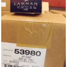 45 GAP SPEER LAWMAN  200 GRAIN TMJ (50 ROUNDS)