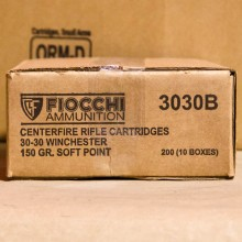 30-30 FIOCCHI SHOOTING DYNAMICS 150 GRAIN SP (20 ROUNDS)
