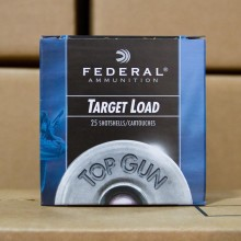 "12 GAUGE FEDERAL TOP GUN 2-3/4"" #7.5 SHOT (25 SHELLS)"
