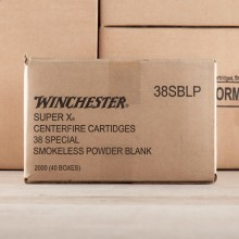 38 SPECIAL WINCHESTER SUPER X SMOKELESS BLANKS (50 ROUNDS)