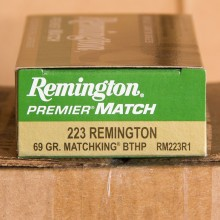 .223 REMINGTON PREMIER MATCH 69 GRAIN BTHP (20 ROUNDS)
