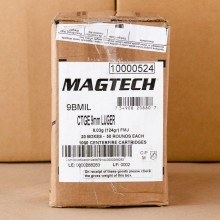 9MM LUGER MAGTECH 124 GRAIN FMJ NATO (1000 ROUNDS)
