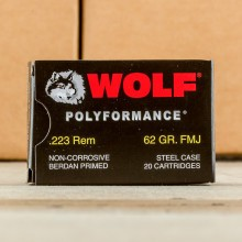 .223 WOLF 62 GRAIN FULL METAL JACKET (500 ROUNDS)