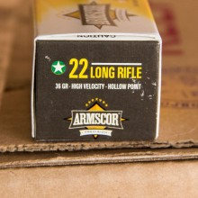 .22 LR ARMSCOR 36 GRAIN HP (500 ROUNDS)