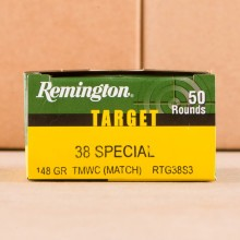 38 SPECIAL 148 GRAIN WADCUTTER MATCH REMINGTON TARGET (50 ROUNDS)