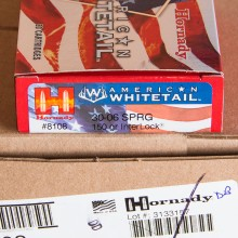 .30-06 SPRINGFIELD HORNADY AMERICAN WHITETAIL 150 GRAIN SP (20 ROUNDS)