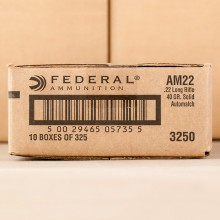 22 LR - 40 Grain LRN - Federal AutoMatch Target - 3250 Rounds