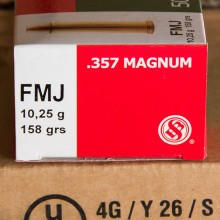 .357 MAGNUM SELLIER & BELLOT 158 GRAIN FMJ (50 ROUNDS)