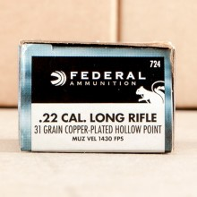22 LR - 31 Grain Copper Plated HP - Federal Game-Shok - 50 Rounds