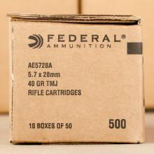 5.7X28MM FEDERAL AMERICAN EAGLE 40 GRAIN TMJ (500 ROUNDS)