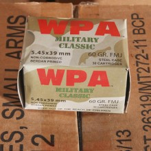 5.45X39 WOLF WPA 60 GRAIN FMJ (30 ROUNDS)