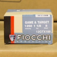 "12 GAUGE FIOCCHI DOVE LOADS 2-3/4"" #8 SHOT (250 SHELLS)"