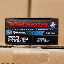 .223 REMINGTON WINCHESTER RANGER 55 GRAIN PSP (20 ROUNDS)