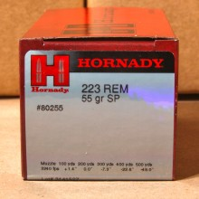 .223 REMINGTON HORNADY 55 GRAIN SP (50 ROUNDS)