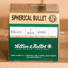 ".410 BORE SELLIER & BELLOT 3"" 00 BUCK (25 SHELLS)"