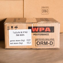 7.62x54R WOLF WPA 174 GRAIN FMJ (500 ROUNDS)