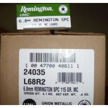 6.8MM SPC REMINGTON UMC 115 GRAIN MC (20 ROUNDS)