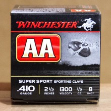 "410 BORE WINCHESTER AA SPORTING CLAYS 2-1/2"" 1/2 OZ. #8 SHOT (25 ROUNDS)"